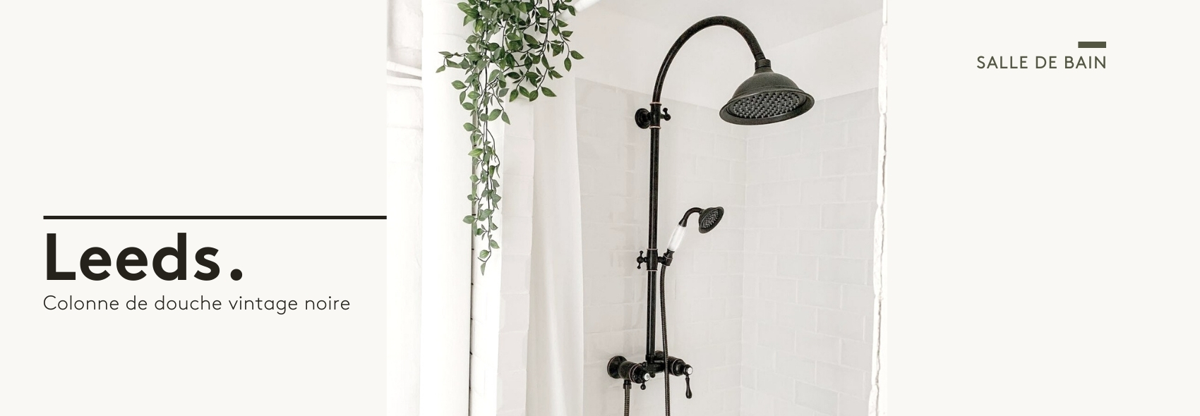 Leeds colonne de douche noire