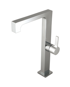 Short mitigeur lavabo haut chrome